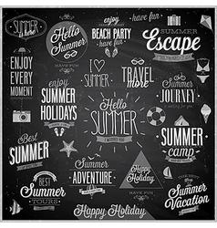 summer chalkboard set vector image