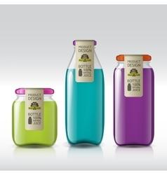 Template of bottle juice jam liquids vector