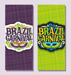 Vertical banners for brazil carnival vector
