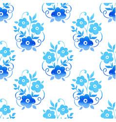 Watercolor flower seamless pattern vector