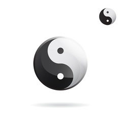 Ying and yang sign vector