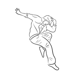 Hip-hop woman dancer vector