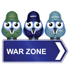 War zone sign vector