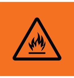 Flammable icon vector