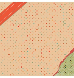 polka dot pattern card vector image