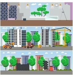 set of construction interior concept vector image