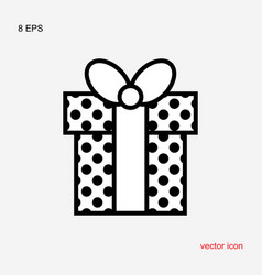 Gift box with a bow or present icon isolated vector