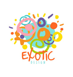 exotic logo design tropical summer vacation vector image