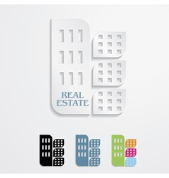 Modern icons for real estate business design vector