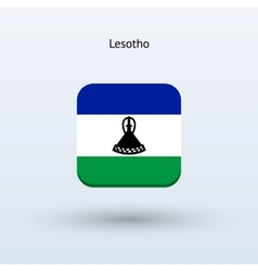 Lesotho flag icon vector