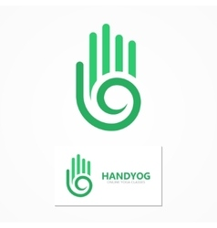 Logo or icon hand with a spiral vector