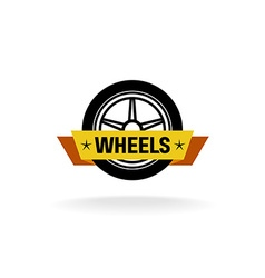 Wheel store logo vector