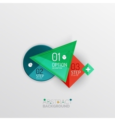 Geometric abstract shape infographic layouts vector