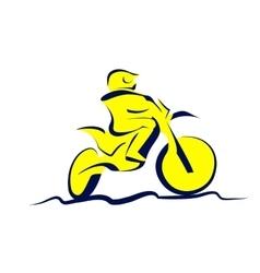Motocross icon vector