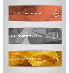Set of geometric polygonal banner vector image