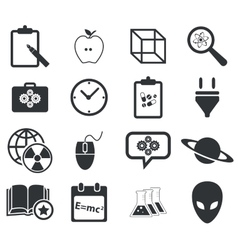Science icon set 3 simple vector