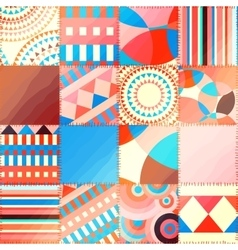 Patchwork with wavy effect vector