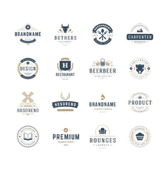 Vintage logos design templates set design vector