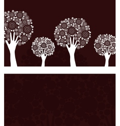Hand tree invitation vector