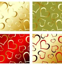 valentines pattern vector image