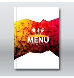 Restaurant menu card broschure template modern vector