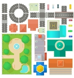 City Map Constructor set vector image