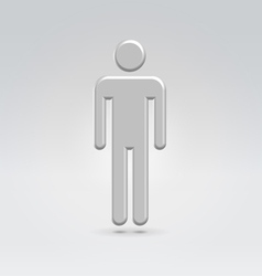 Silver male person icon vector image
