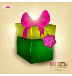 background with beautiful gift and place for text vector image