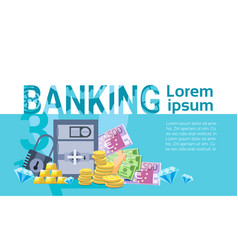 Banking money savings business finance banner vector