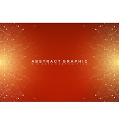 Big data complex Graphic abstract background vector image vector image