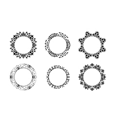 Black ethnic ornamental frames set vector image