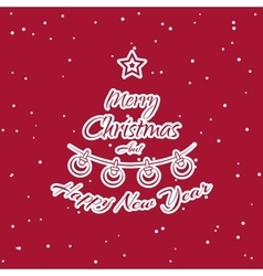 Christmas Sticker Fir vector image vector image