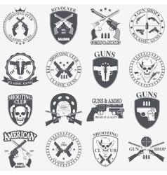 Classic guns emblem vector