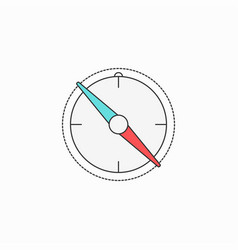 compass creative symbol concept flat thin line vector image vector image