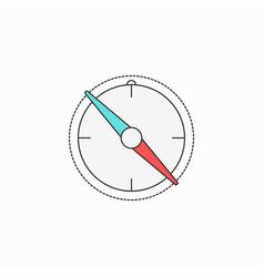 Compass creative symbol concept flat thin line vector