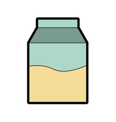 Cute milk box graphic design vector