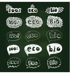 Ecology doodles icon set vector