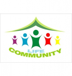 life community symbol vector image vector image