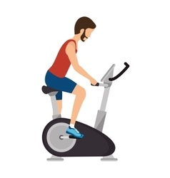 Machine gym equipment icon vector