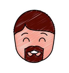 Man with beard icon vector
