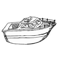 motor boat vector image vector image