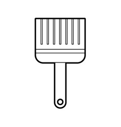 paint brush color repair instrument icon vector image