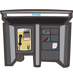 Payphone in a City vector image vector image