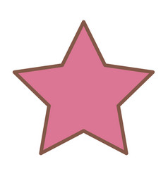 Pink star funny comic cartoon decoration icon vector