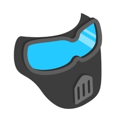 Protective mask 3d isometric icon vector