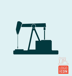 pumpjack icon isolated vector image vector image