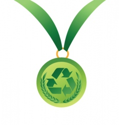recycling winner vector image vector image