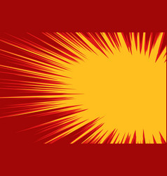 red yellow explosion comic vector image