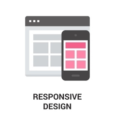 Responsive design icon vector