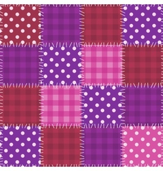 Seamless pink patchwork pattern vector